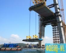 Первая «островная» панель моста на остров Русский смонтирована строителями