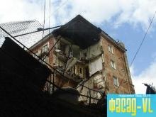 Восстановление жилого дома во Владивостоке выполняется по новым технологиям