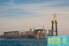 Строительство моста на остров Русский в завершающей стадии