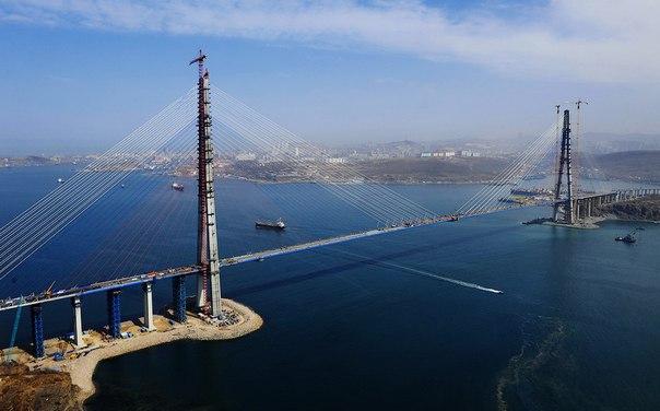 """Мост на остров """"Русский"""" открыт для движения во Владивостоке"""