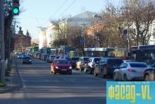 Из-за ремона на Некрасовском путепроводе образовалась пробка