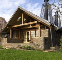 Комбинированный дом – отличный компромисс между камнем и деревом