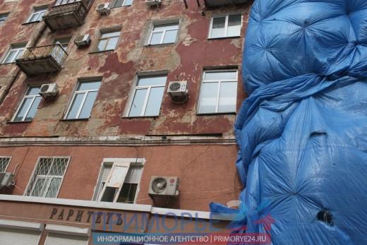 Жители разрушенного дома на Посьетской, 28 вернулись в свои квартиры